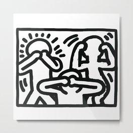 the three monkeys Metal Print
