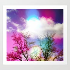 Flavored Skies  Art Print