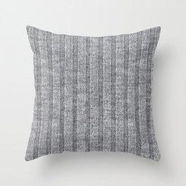 Soft Grey Jersey Knit Pattern Throw Pillow