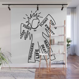 Anxiety Angel - Zine Art - Doodle Wall Mural
