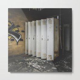 Spirit - Lockers In Abandoned Building Metal Print