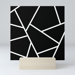 Black and White Fragments - Geometric Design II Mini Art Print