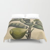 fig Duvet Covers featuring Fig by Connie Goldman