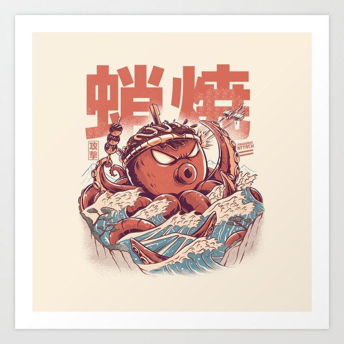 Takoyaki Attack Kunstdrucke