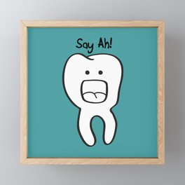 Say Ah! Framed Mini Art Print