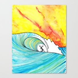 Sunset Slab Canvas Print