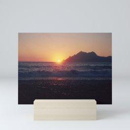 Crash into me - Romantic Sunset @ Beach #1 #art #society6 Mini Art Print