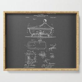 Rocking Oscillating Bathtub Patent Engineering Drawing Serving Tray