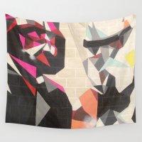 best friends Wall Tapestries featuring Best Friends  by Kayleigh Kirkpatrick