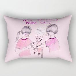 Less Catcalls, More Cats Rectangular Pillow
