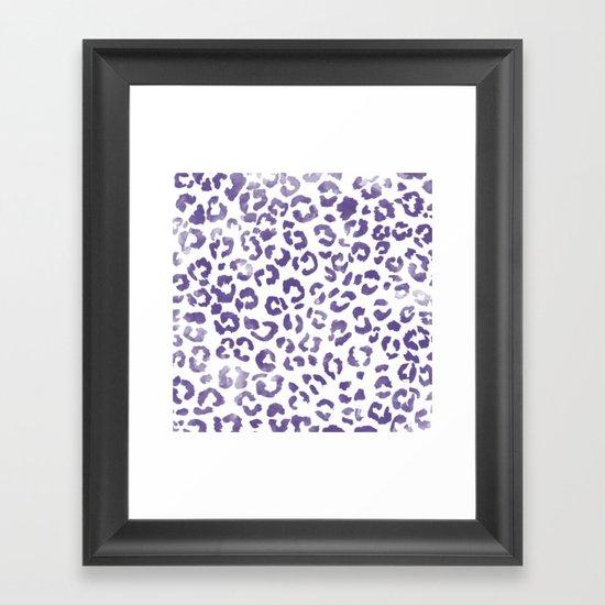 Modern hand painted leopard purple ultra violet watercolor pattern by girlytrend