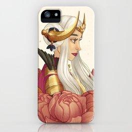Crimson Flower iPhone Case
