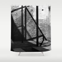 solid Shower Curtains featuring Solid shadows by LaCatrina.it