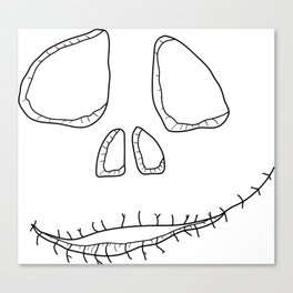 Spooky smile Canvas Print