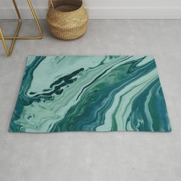 Blue Planet Marble Rug