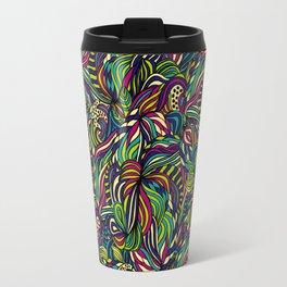 Abstract geometric waves pattern Bright colors Travel Mug