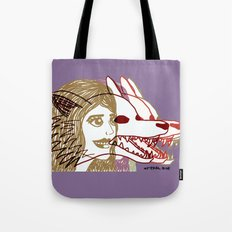 Triple She Wolf Tote Bag