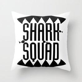 Shark Squad Funny Gift Kids Women Men Throw Pillow