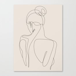 dissol - one line art - pastel Canvas Print