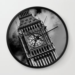 Big Ben | London, England | Black and White | Fine Art Travel Photography Wall Clock