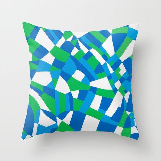 London Green Throw Pillow