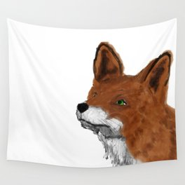 Watercolor animals fox painting Wall Tapestry