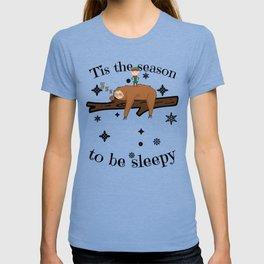 Sloth Late Sleepers Christmas Sleep Sleepy Lazy T-shirt