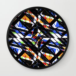 Multicolor Geometric Abstract Pattern Wall Clock