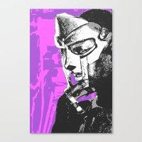 mf doom Canvas Prints featuring MF DOOM by Blake Lee Ferguson