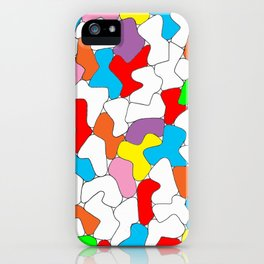 Multi-colored Shapes  iPhone Case