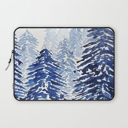 A snowy pine forest Laptop Sleeve