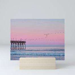 Beach Birds Sunset  Mini Art Print