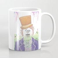willy wonka Mugs featuring Wonka by Mon Chaton
