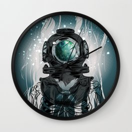 Deep Space Diver Wall Clock