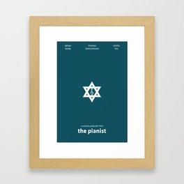 The Pianist Minimal Poster Framed Art Print