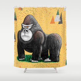 Endangered Rainforest Mountain Gorilla Shower Curtain