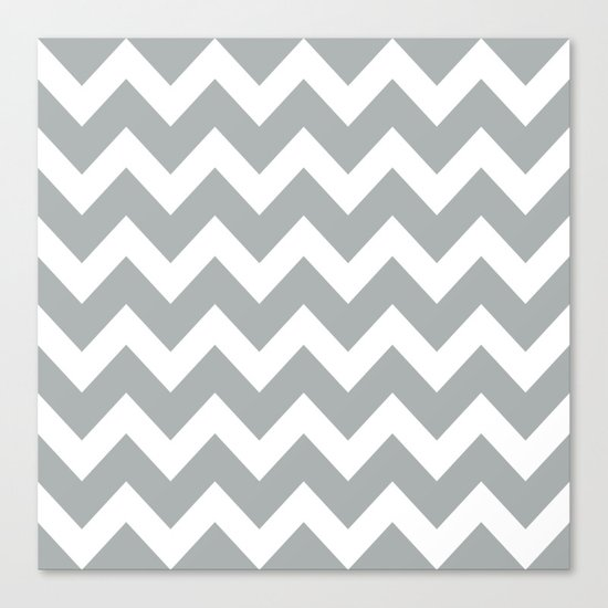 Chevron Grey & White Canvas Print