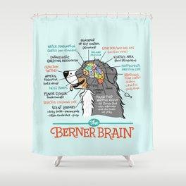 Berner Brain - Blue Shower Curtain