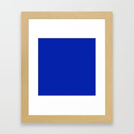 Royal Cobalt Blue Framed Art Print