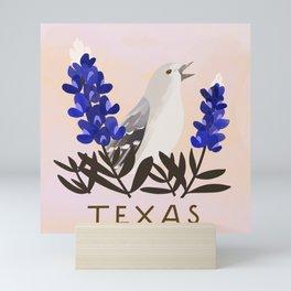 Texas State Bird and Flower Mini Art Print