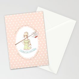misandry comes in powdered pink lace Stationery Cards