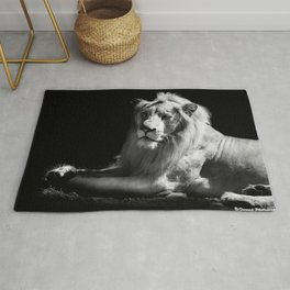 The King Black and White Rug