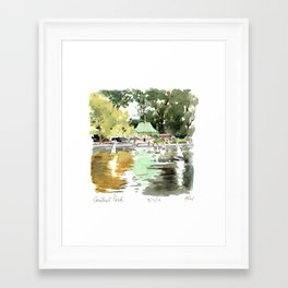 Central Park Conservatory Waters Framed Art Print