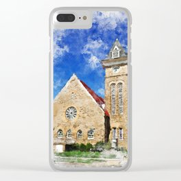 a place to contemplate Clear iPhone Case