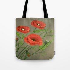 Poppies-3 Tote Bag