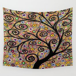 Abstract tree-11 Wall Tapestry
