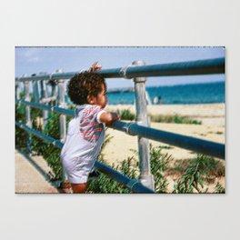 Street Scenes - Kid Ocean View Canvas Print