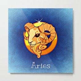 Zodiac_Sign_Aries Metal Print