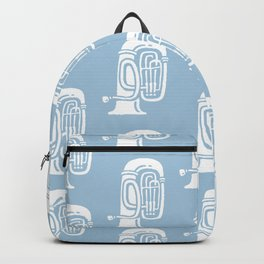 Tuba Pattern Pale Blue Backpack