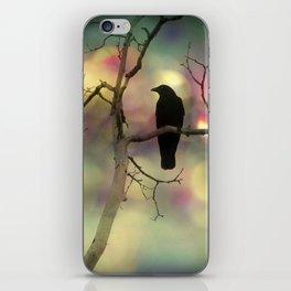 Crow Dreams In Colors iPhone Skin